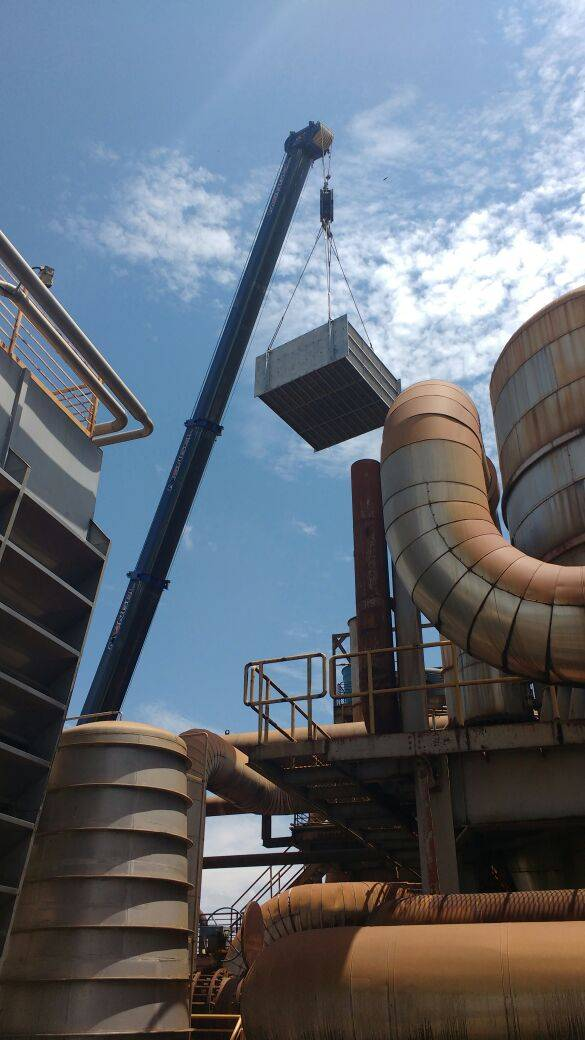 installation of Hybrid plate evaorator into a brasilian sugar factory